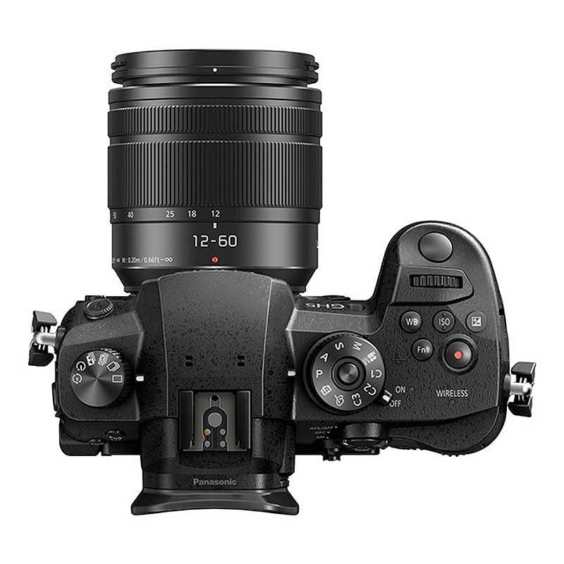Panasonic Lumix DC-GH5EG-K mit Objektiv Topansicht Toneart Kameraverleih