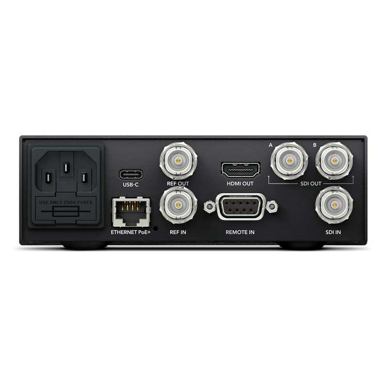Blackmagic Design HyperDeck Studio Mini Rear - Toneart Kameraverleih